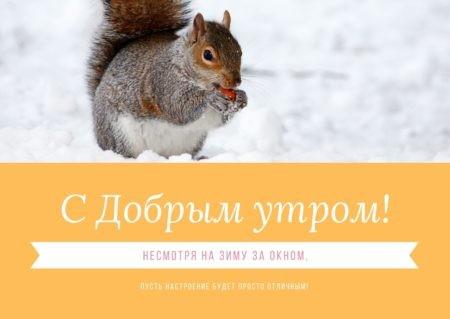 Смешная зимняя открытка